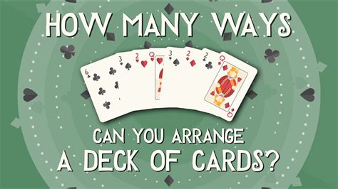 how many cards in a skipbo deck how many ways can you arrange a deck of cards yannay