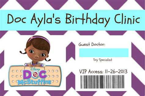 doc mcstuffins printable name tags doc mcstuffins name badge by socialbutterflies98 on etsy