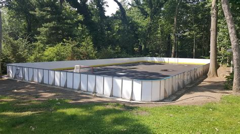 backyard roller hockey rink d1 backyard rinks synthetic ice basement or backyard