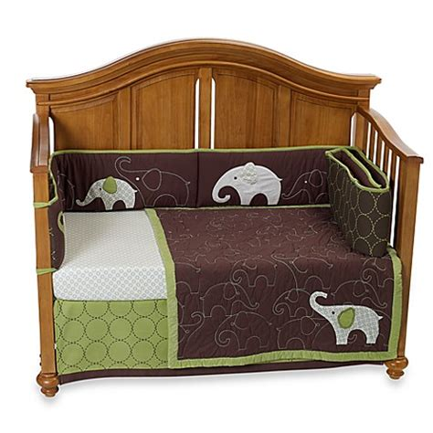 Carters Crib Bedding Set S 174 Green Elephant 4 Crib Bedding Set Bed Bath Beyond
