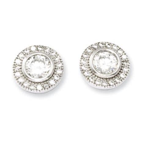 silver earring 925 sterling silver cz stud earrings sterling silver jewelry gemologica a