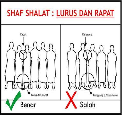 tutorial sholat yg benar josh jomblo sai halal gambar poster shaf shalat