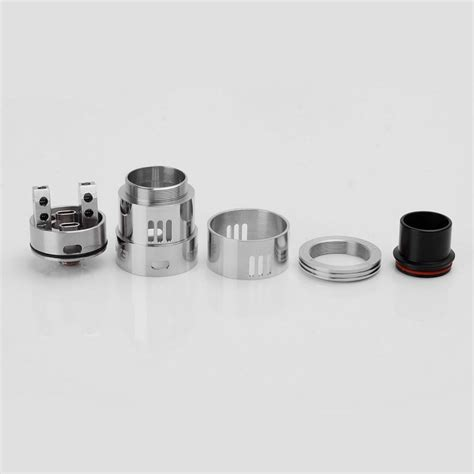 Castle Rda Rebuildable Atomizer Silver Qizz samurai v3 style rda silver 24mm stainless steel rebuildable atomizer