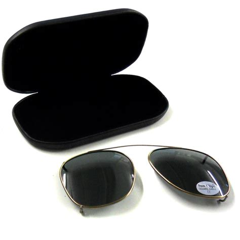 Clip On Square Sunglasses clip on sunglasses 54mm grey square frames affordable