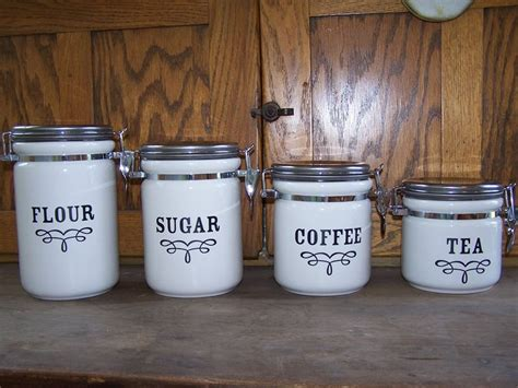 Tuscan Canisters Kitchen by Selecting Kitchen Canisters Designwalls