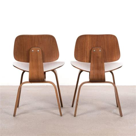 Eames Dining Chairs For Sale Eames Dcw Walnut Dining Chair For Herman Miller For Sale At 1stdibs