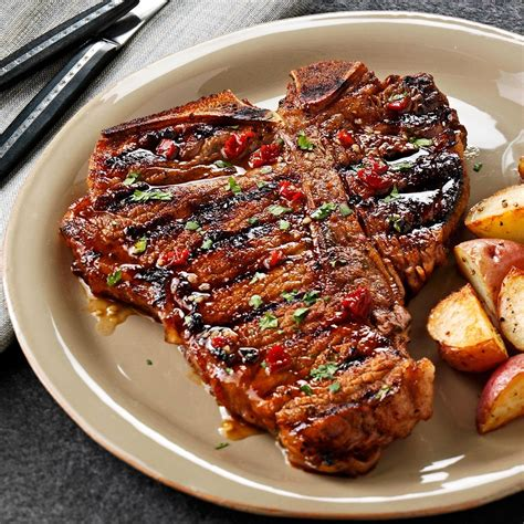 best t bone steak on a oven chipotle honey grilled t bones recipe taste of home