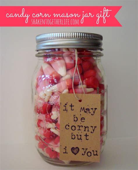 valentine gifts valentine candy corn mason jar gift