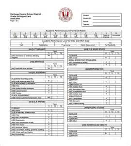 Student Grade Report Template by Progress Report Card Template 12 Free Printable Word