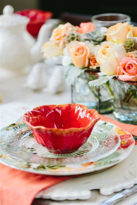 simply lovely table coarl pink and green table 64 best peach coral wedding images on pinterest