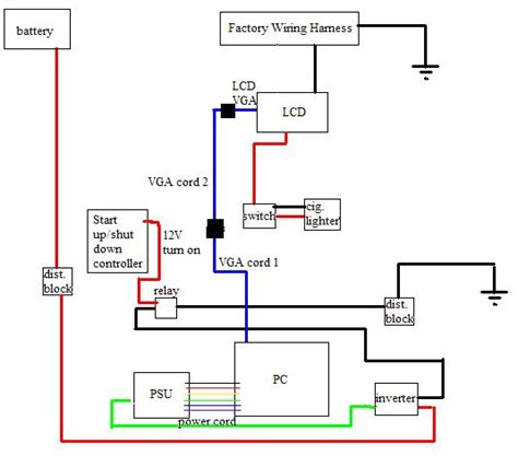 circuit diagram laptop lcd display to vga interface project electronic circuit diagram and layout