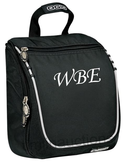 personalized monogrammed mens hanging travel toiletry bag