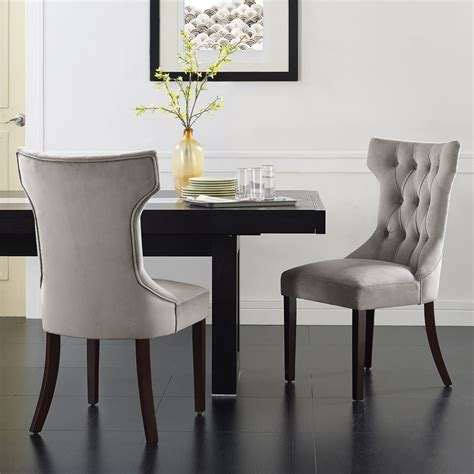 Tufted Dining Room Chairs dining room appealing grey fabric dining chair with