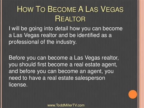 how to become a realtor how to become a las vegas realtor