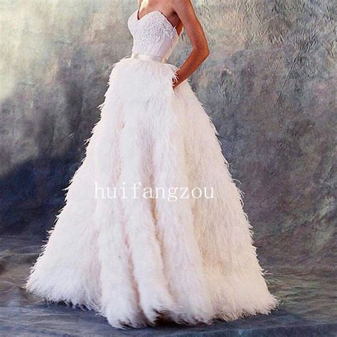 Wedding Formal Dress by Ostrich Feather Wedding Dresses Formal Bridal Gowns