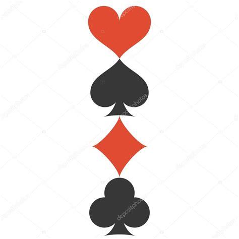 simboli fiori verticale vettoriale quattro carte da gioco si adatta