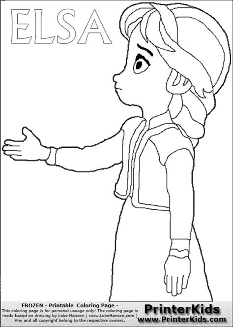 little elsa coloring page get this free printable queen elsa coloring pages disney