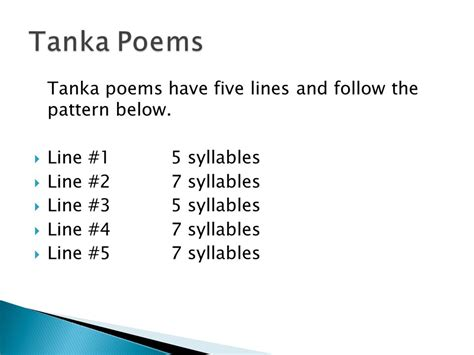 tanka poem template haiku tanka cinquain and diamante ppt