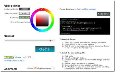 theme generator visual studio visual studio color theme generator schrankmonster blog
