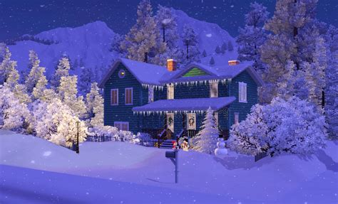 my sims 3 blog christmas house by kirsten