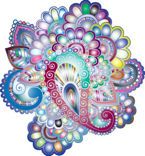 clipart prismatic henna tattoo 3