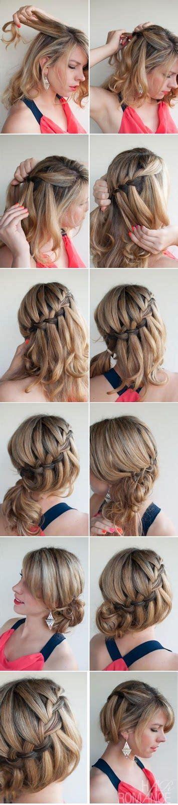 waterfall braid bun 28 diy hairstyles best 25 braided bun hairstyles ideas on pinterest dutch