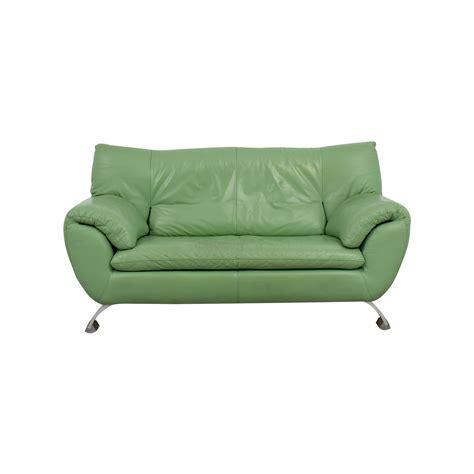 Nicoletti Leather Sofa 74 Nicoletti Nicoletti Leather Green Sofa Sofas