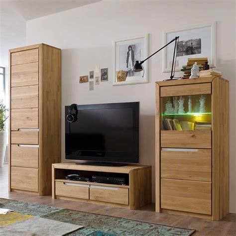wohnzimmer schränke schrankwand aus wildeiche massivholz 250 cm breit 3