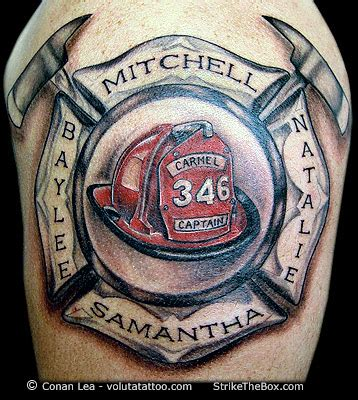 fire fighter tattoos