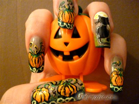 nails pumpkin my adventures in nail pumpkin freehand nail