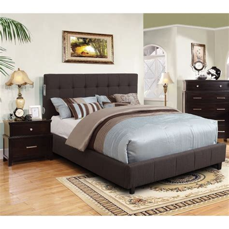 California Bedroom Furniture Furniture Of America Janata 2 California King Bedroom Set Idf 7060gy Ck 2pc
