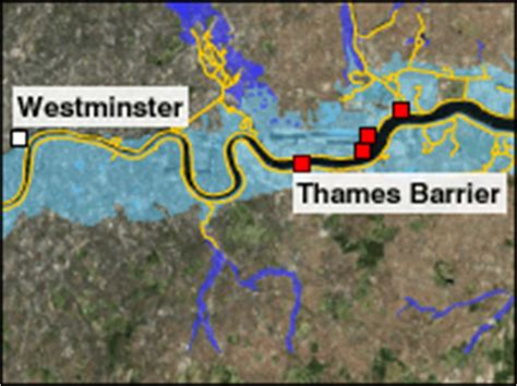 Thames Barrier Flood Map | bbc news uk magazine london s drowning