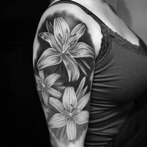 black and grey lily tattoo 59 beautiful tiger lily tattoos ideas