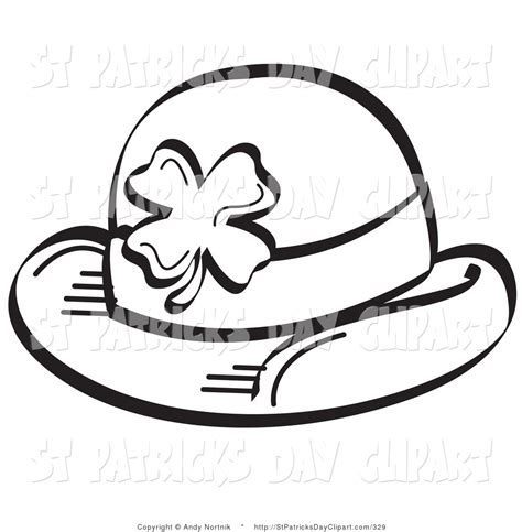 coloring pages of clown hats royalty free black and white stock st patrick s day designs