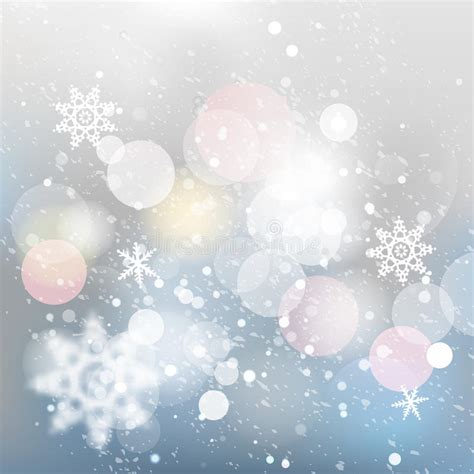 christmas lights snowflakes falling winter defocused background falling snow texture stock vector image 61778582