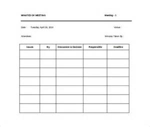 minute paper template meeting minutes template 28 free documents in