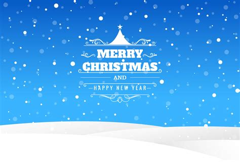 merry christmas card  landscape blue background   vectors clipart graphics