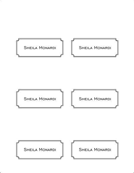 Place Card Template 6 Per Page by Free Place Card Template 6 Per Sheet The Best Resume