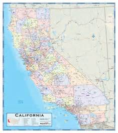 map de california california county wall map maps