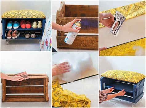 diy shoe storage bench   fruit crate diy craft