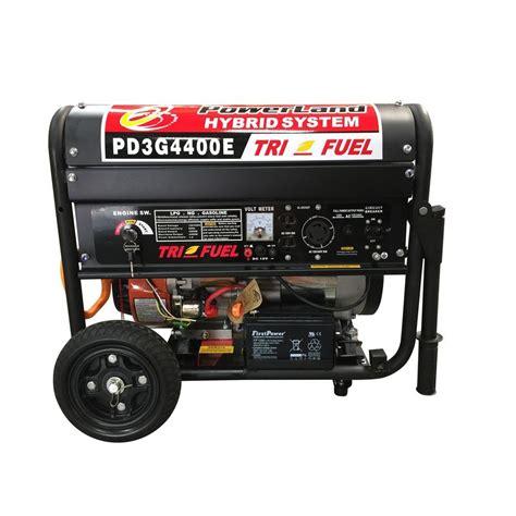 powerland 4 400 watt tri fuel gasoline propane ng