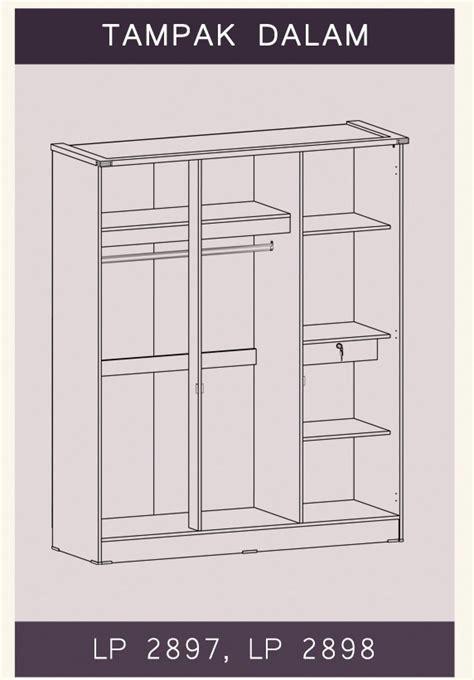 Lemari Pakaian 3pintu Minimalis Graver furniture rumah lp 3pintu natalie