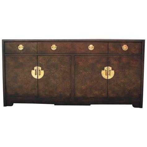 glamorous burl wood modern dresser sideboard with brass