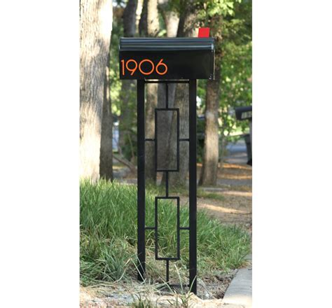 mid century moderne mailbox mid century modern style mailbox post