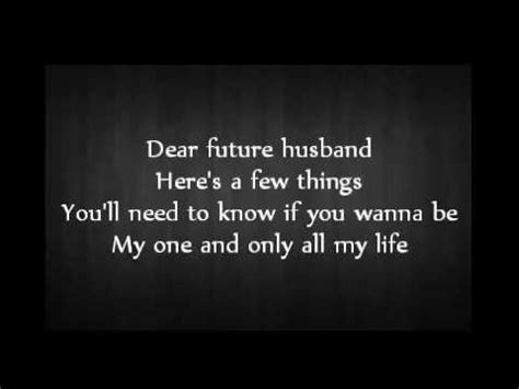 lyrics for husband meghan trainor dear future husband audio lyrics