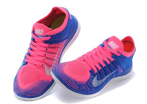 buy nike free 4 0 flyknit blue pink running shoes for sale
