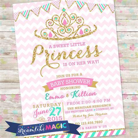 Princess Baby Shower Invitations by Princess Baby Shower Invitation Royal Princess Invite Pink