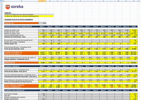 business plan format excel gratuit feuille de calcul business plan pour un site e commerce