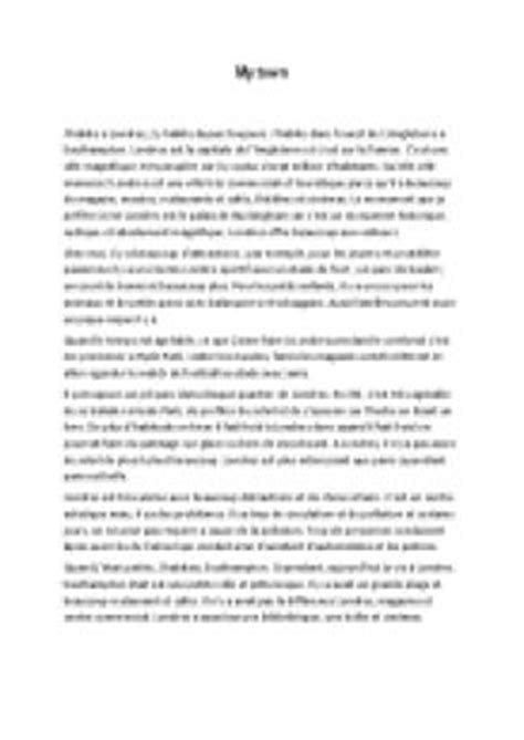 My Ideal Town Essay by Gcse My Town Essay Londres Gcse Modern Foreign Languages Marked By Teachers
