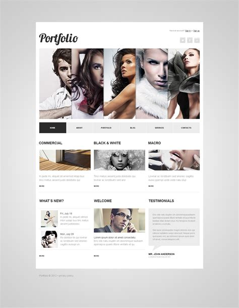 photographer portfolio joomla template 40272